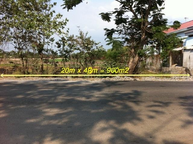 Bán đất Mặt tiền tỉnh lộ 10 Củ Chi 20m x 45m= 900m2 giá 650 triệu