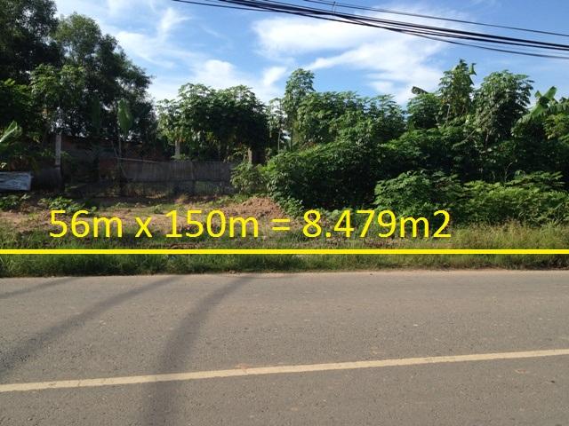 bán 8.450 m2 đất mặt tiền đường Hồ Văn Tắng Củ Chi giá 1 triệu 200 ngàn /1 m2
