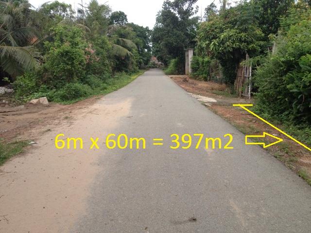 Bán đất mặt tiền đường nhựa 397m2 khu dân cư Thái Mỹ,Củ Chi giá rẻ :200 triệu