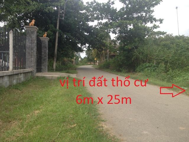 Đất thổ cư 6mx25=150m2 mặt tiền đường nhựa xã Thái Mỹ,Củ Chi giá 200 triệu