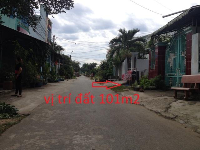Đất thổ cư khu phố 4 mặt  tiền đường Lưu Khai Hồng thị trấn Củ Chi 101m2 giá 750 triệu