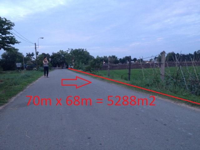 5.288m2(70x68)đất vườn 2 mặt tiền đường nhựa xã Phước Thạnh Củ Chi giá 2 tỷ
