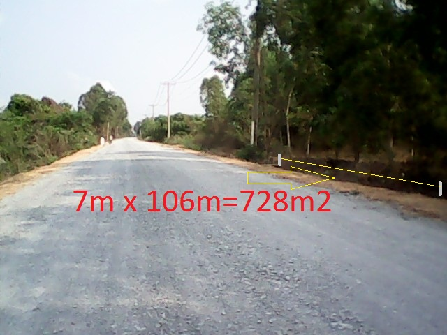 Bán 728 m2 đất mặt tiền đường Tam Tân xã Thái Mỹ Củ Chi giá rẻ 200 triệu
