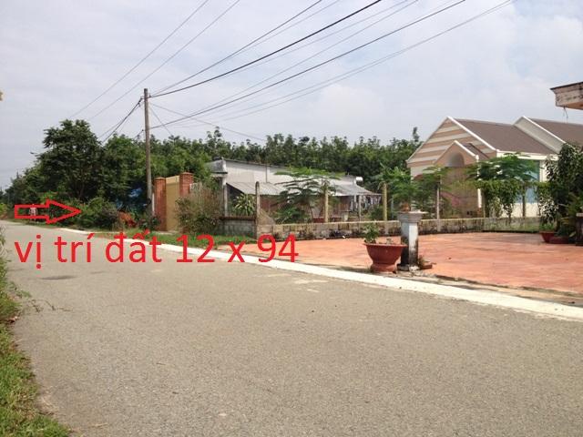 Đất khu dân cư xã Thái Mỹ Củ Chi 12m x 94m(1144m2)giá 580 tr