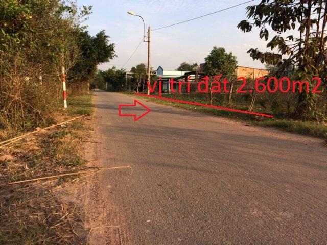 Bán đất thổ cư xã trung lập hạ củ chi 30x86=2600m2 giá 500 ngàn /1m2