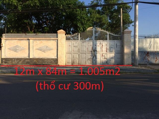 nhà xưởng 12m x 84m = 1.005m2 mặt tiền đường tỉnh lộ 7 giá 2 tỷ