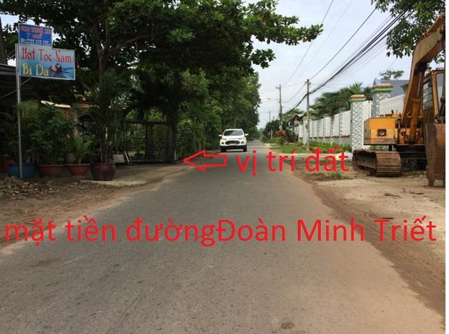 Bán đất mặt tiền đường Đoàn Minh Triết Củ Chi 5.5m x 50m(282m2) giá 450 triệu
