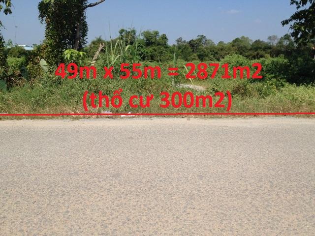 Bán 2.870m2 đất thổ cư mặt tiền đường nhựa xã thái mỹ ,củ chi giá 1 tỷ 500 triệu