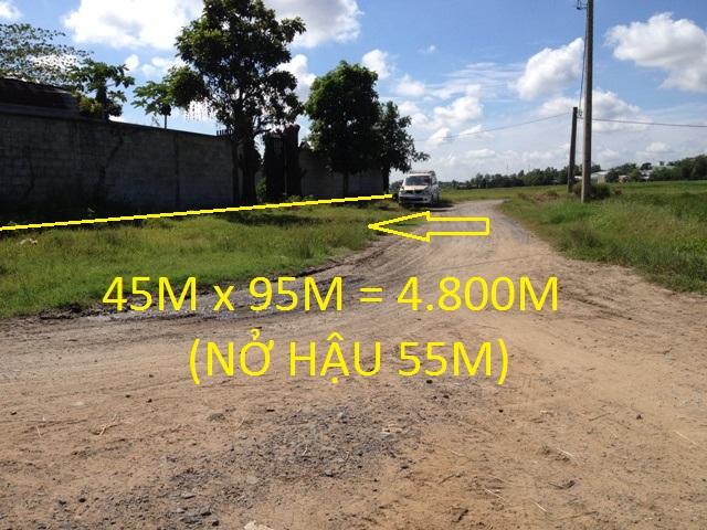 Bán đất vườn trang trại đường Nguyễn Thị Lắng- Tân Phú Trung 4.800m2 giá 2 tỷ 9