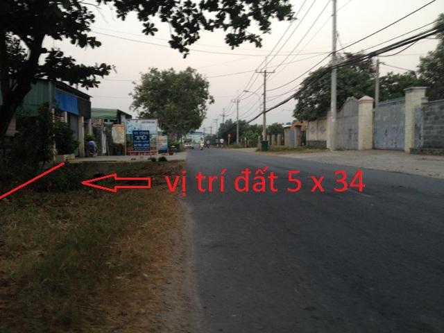 Bán đất thổ cư 5x34 mặt tiền đường tỉnh lộ 7 xã Thái Mỹ,Củ Chi giá chỉ 420 triệu
