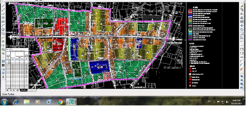 bản đồ quy hoạch khu dân cư xã thái mỹ khu trung tâm hành chính xã